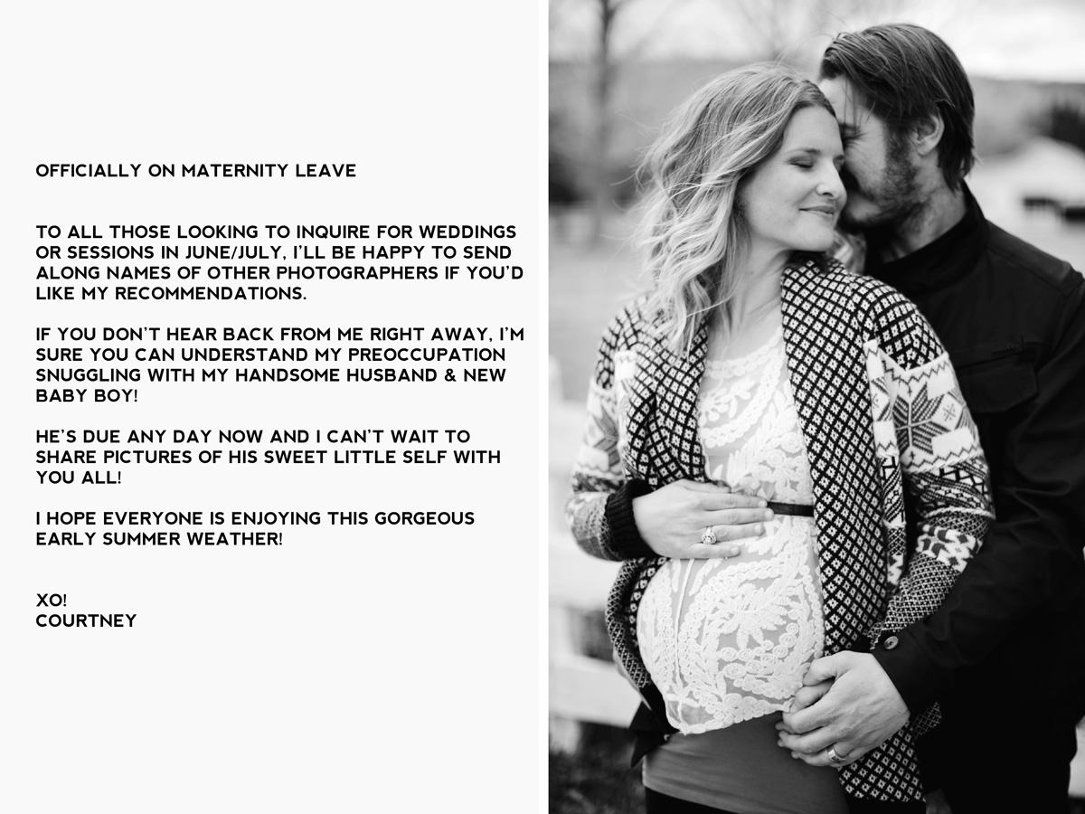 Courtney Aaron Maternity leave