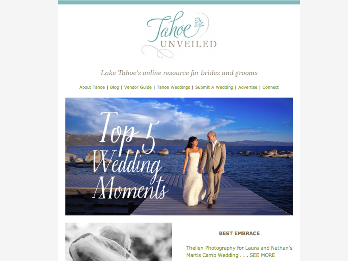 Top 5 Wedding Moments Tahoe Unveiled