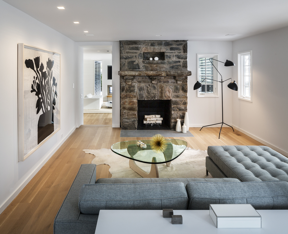Relaxing modern addition on traditional house in westchester county new york