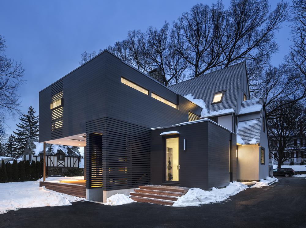 Gorgeous hybrid tudor modern westchester house