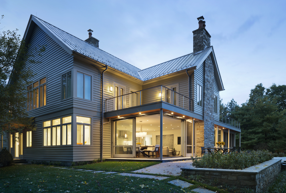 traditional new canaan gabled house in connecticut