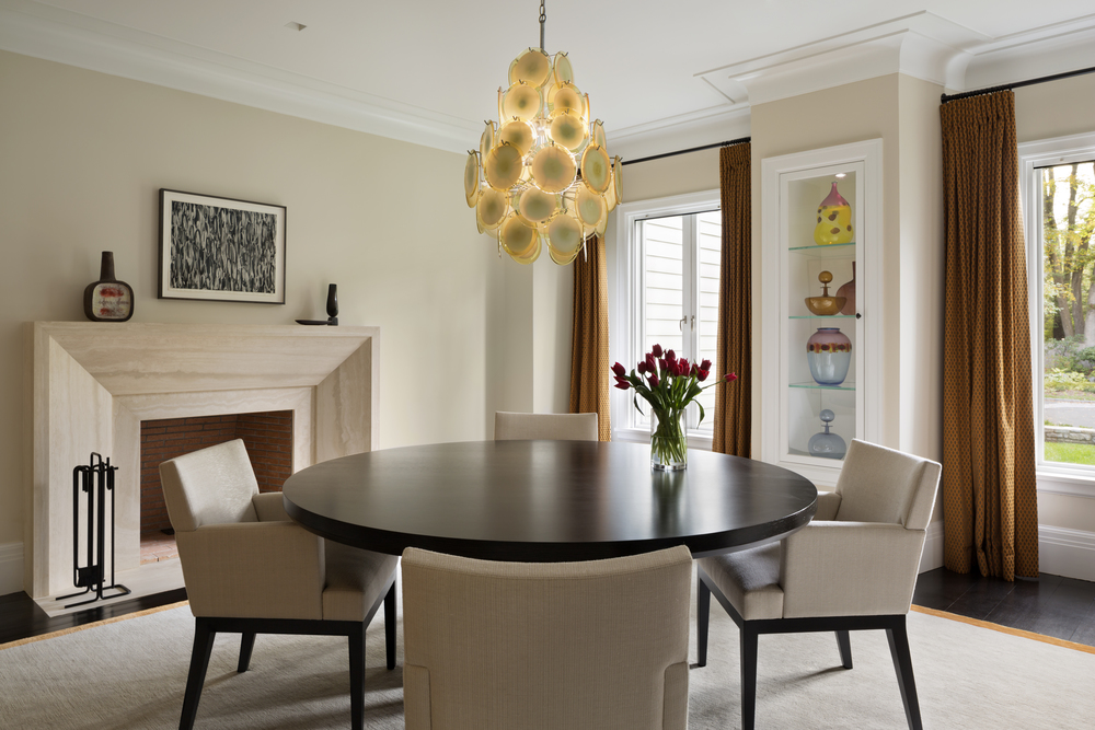 perfect new england dining room in traditional custom luxury house