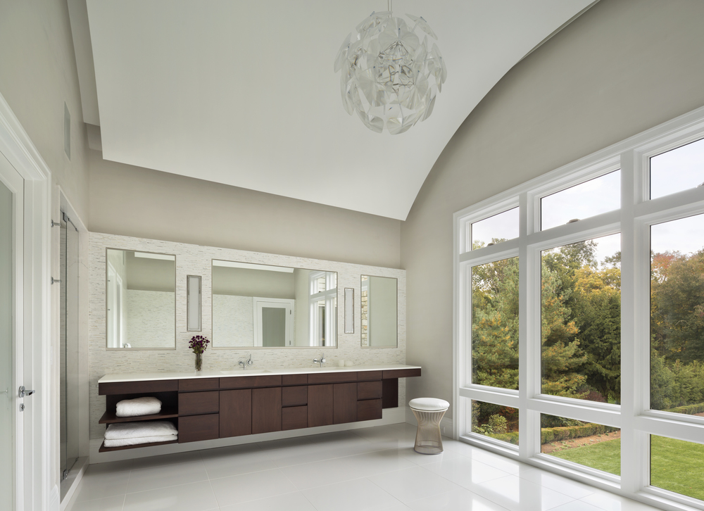 custom luxury traditional bright bathroom
