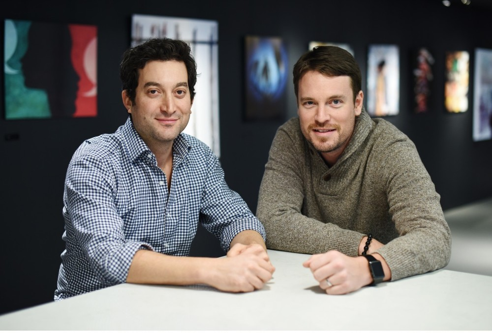 Shutterstock CEO John Oringer with BFA's Billy Farrell