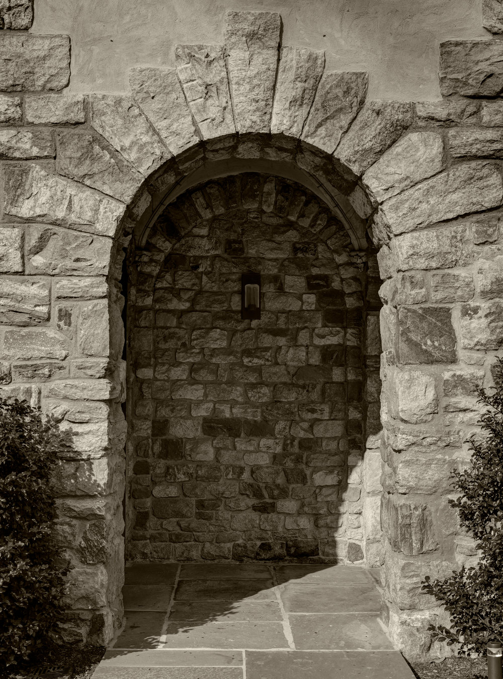 keystone black and white doorway belfry bell tower