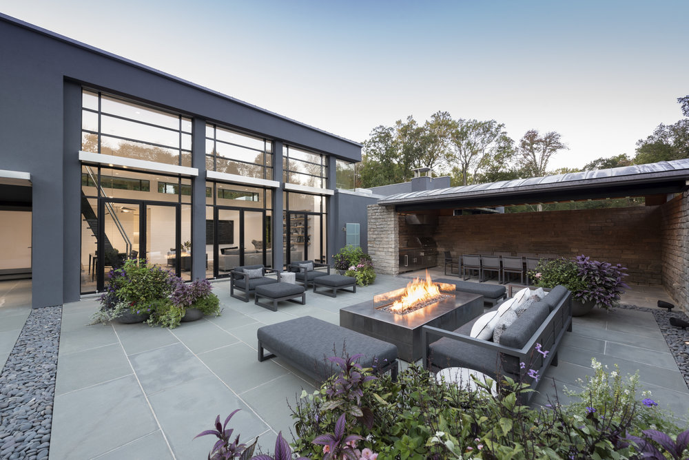 Luxury outdoor patio in greenwich