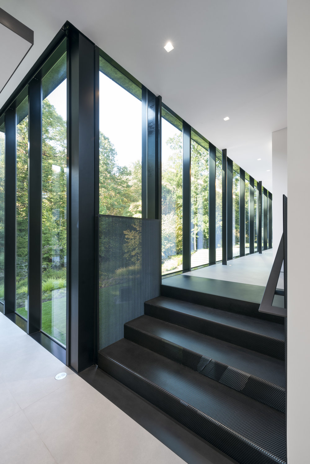 Unique Modern architecture glass stairs