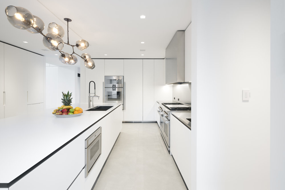 Beautiful white kitchen modern luxury home