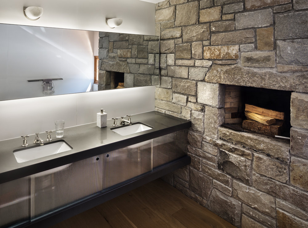 custom luxury stone bathroom
