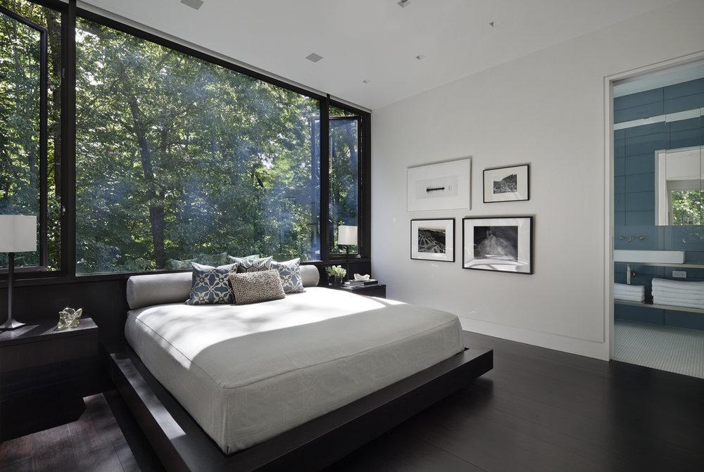 relaxing guest bedroom connecticut escape modern art