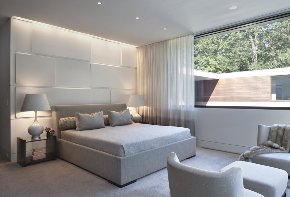 comfortable luxury bedroom soft white relaxing