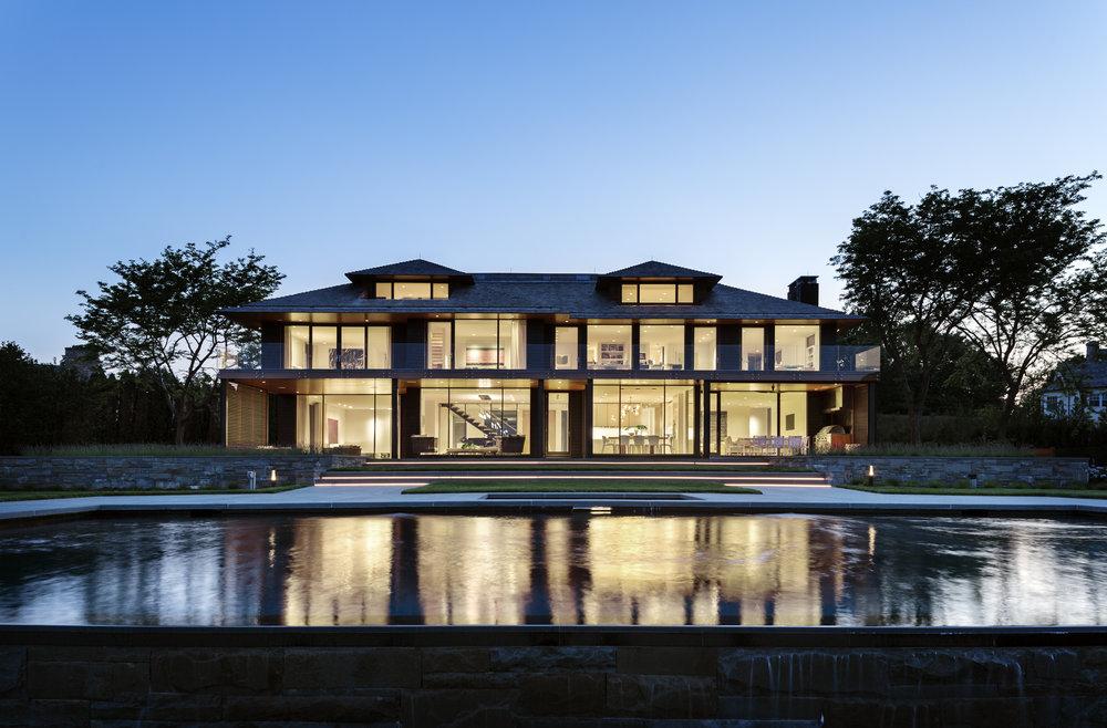 Joeb Moore Greenwich Waterfront Award winning modern home