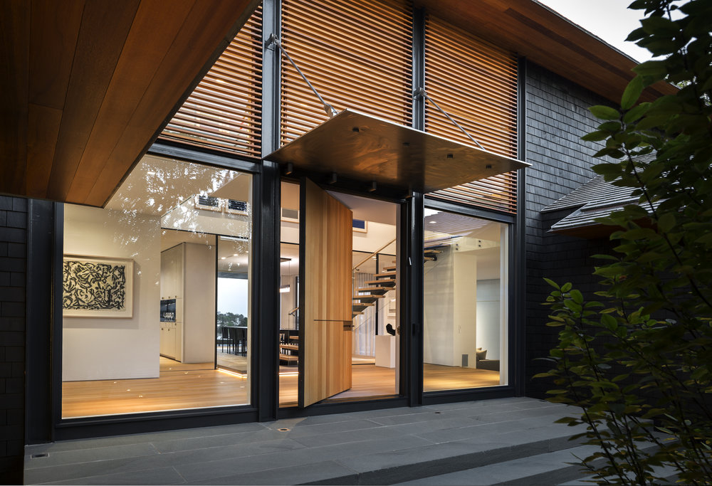 beautiful entryway woodwork