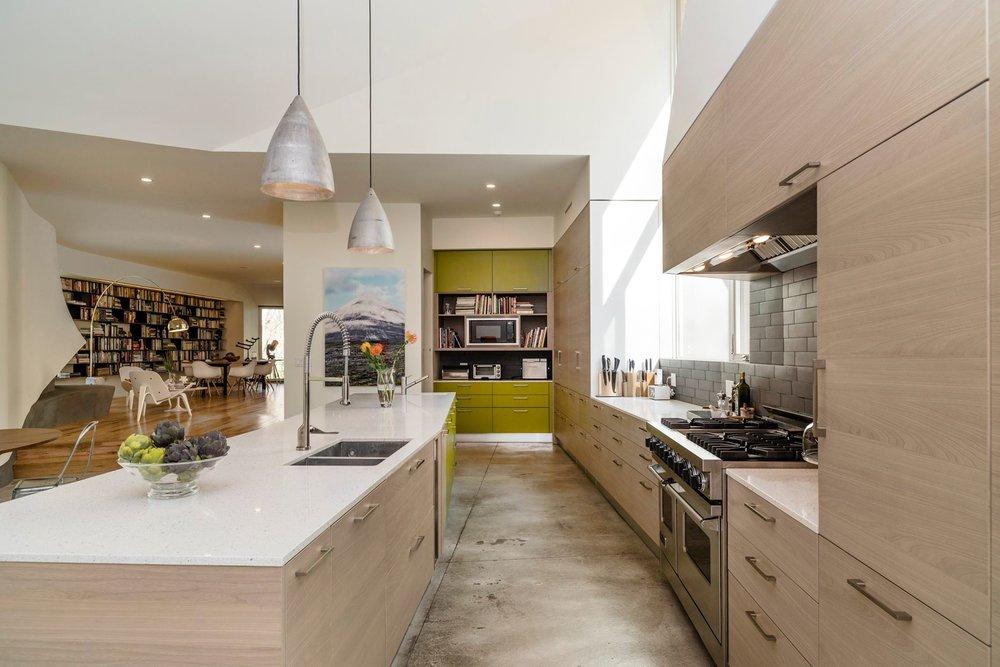 gorgeous white clean kitchen