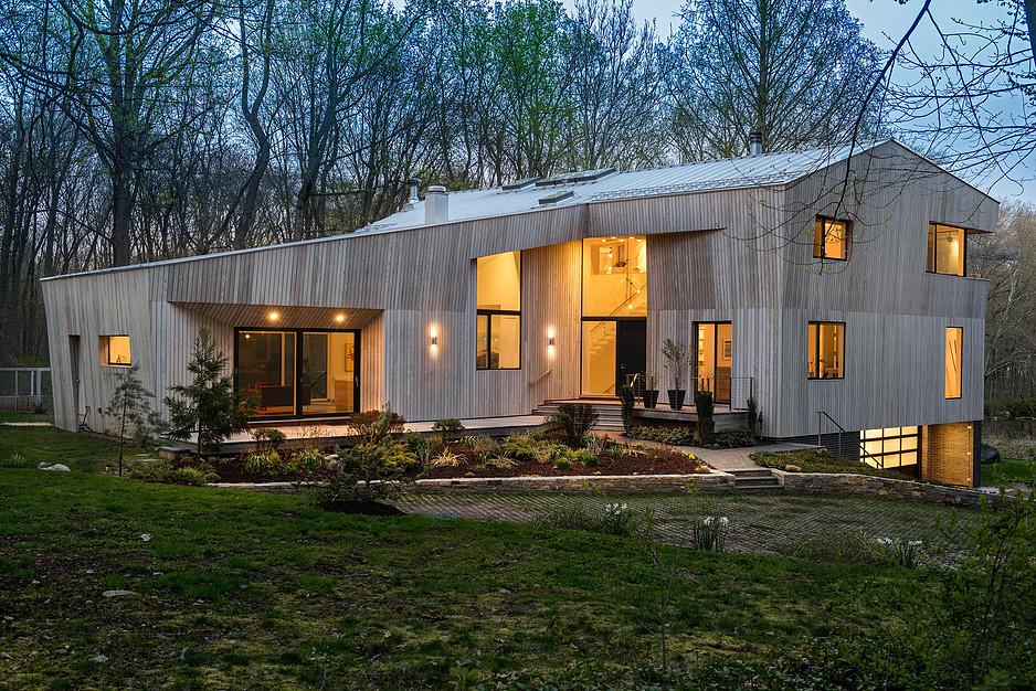 darien connecticut modern architecture geometric design