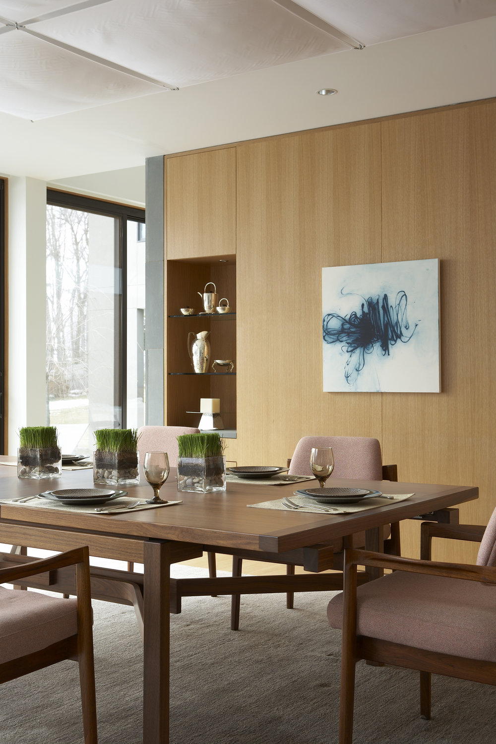 relaxing family modern luxury dining room