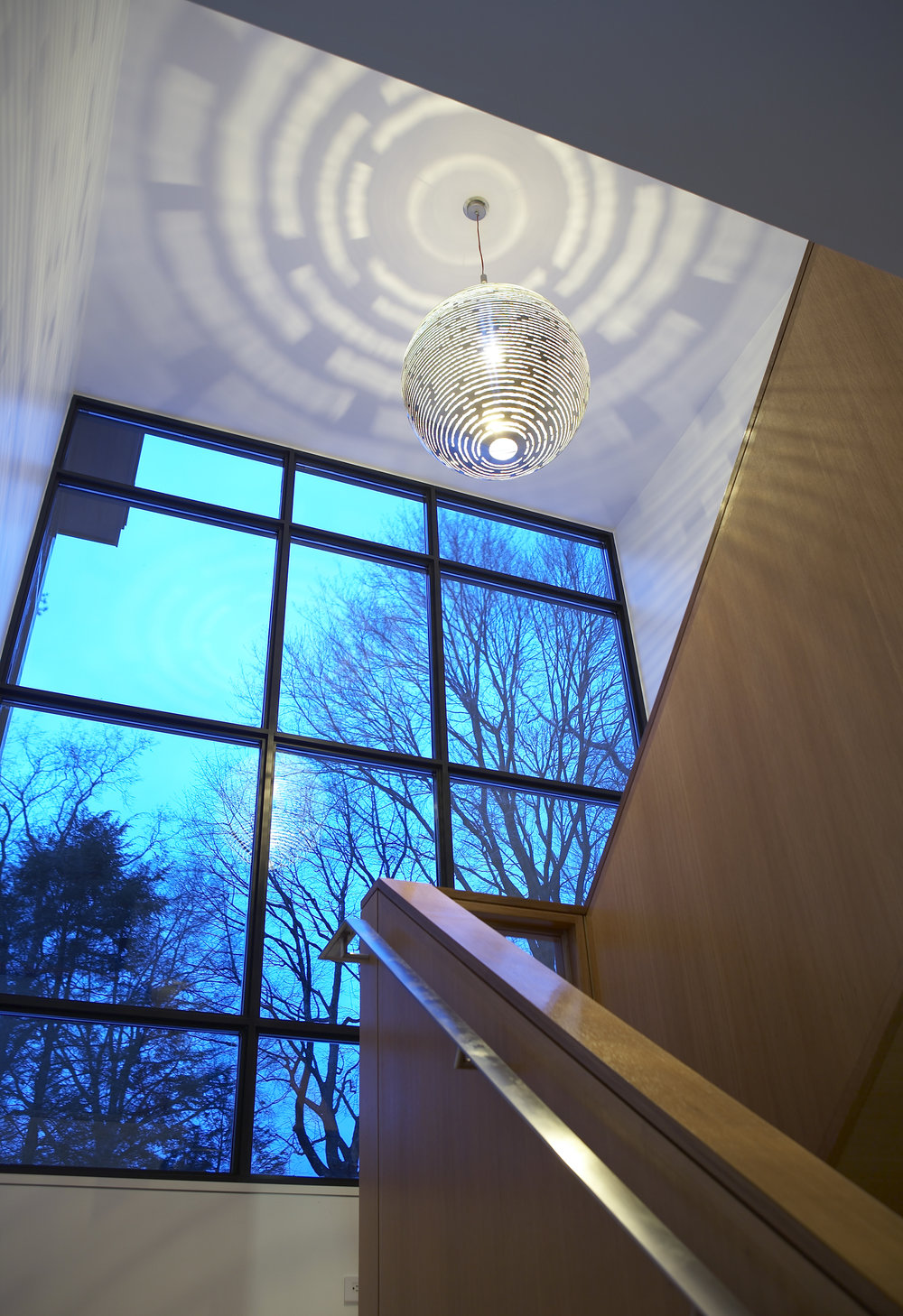 cool light staircase pendant lighting