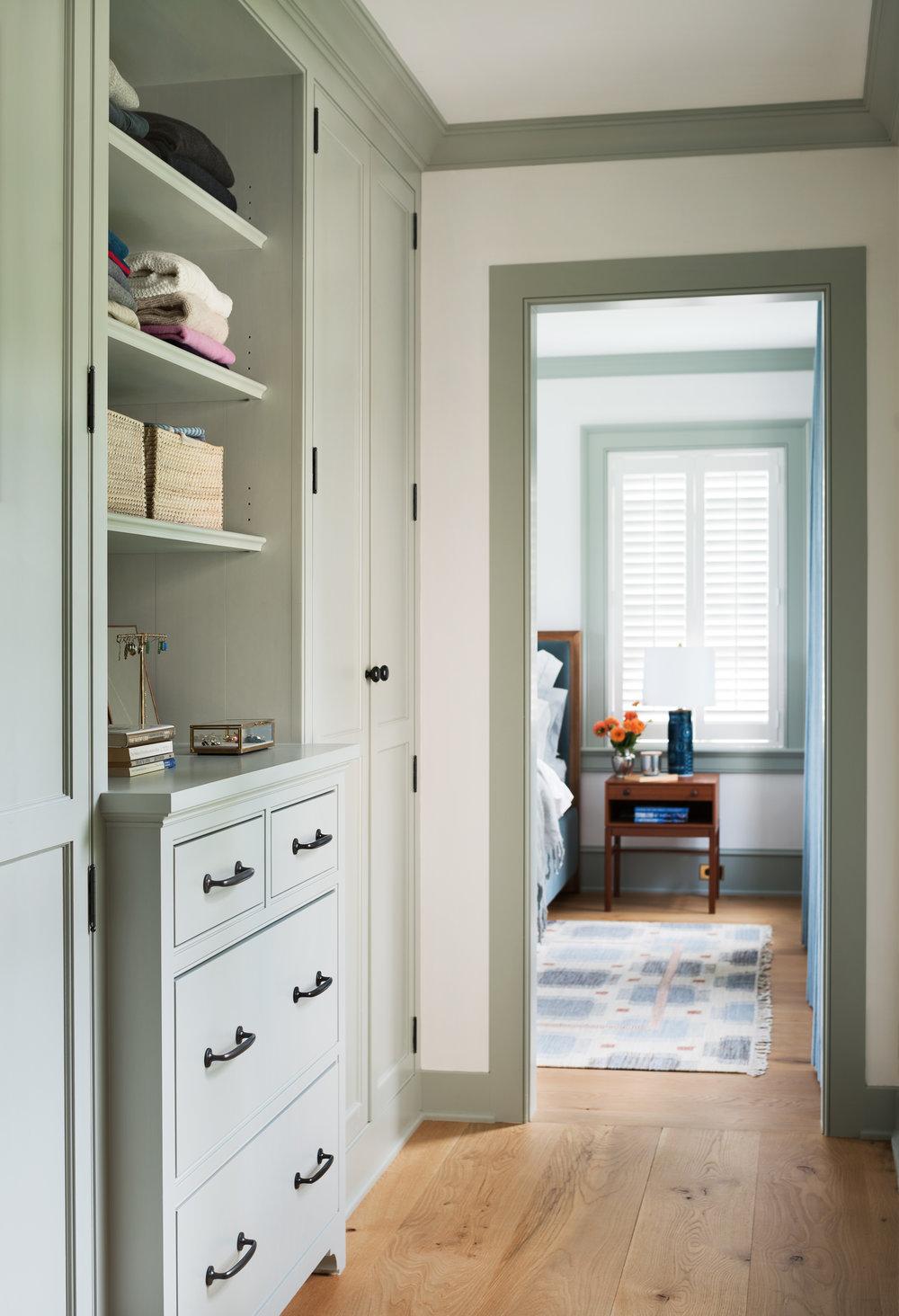 millwork hallway custom luxury closet
