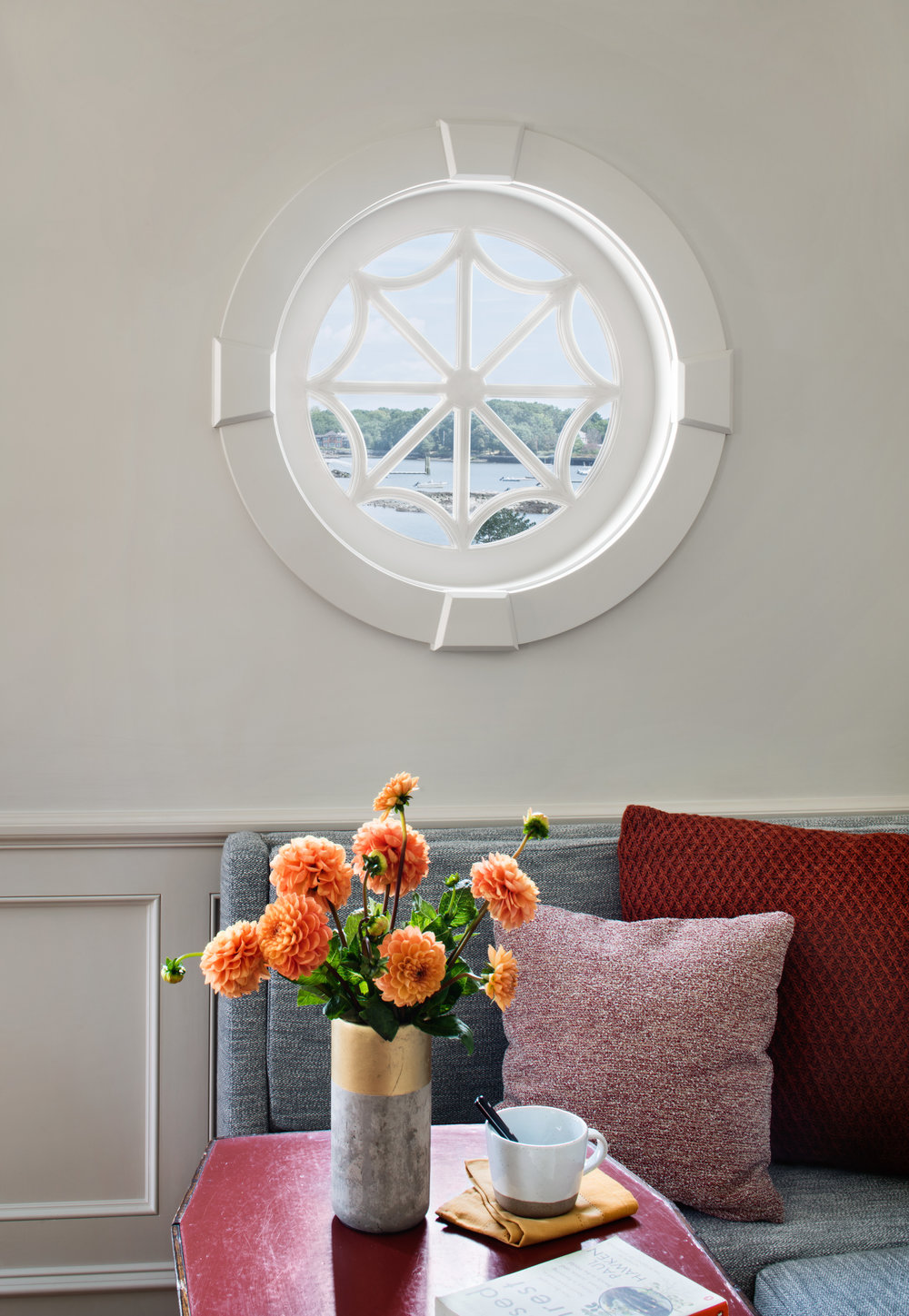 port hole window seaside waterfront house