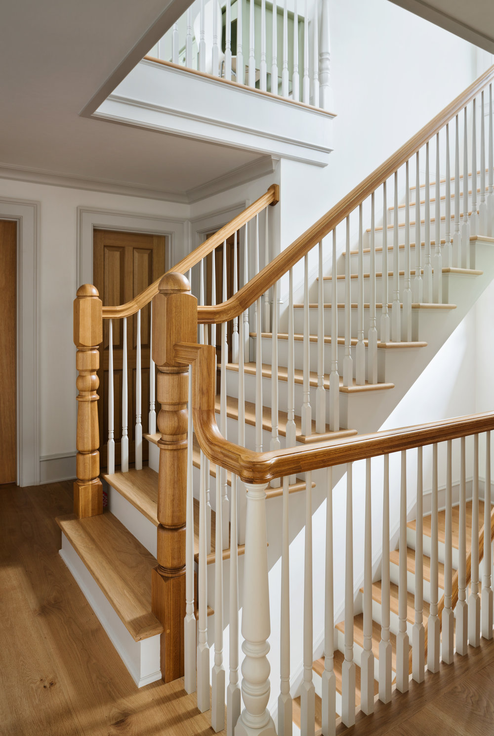 wood staircase colonial traditional