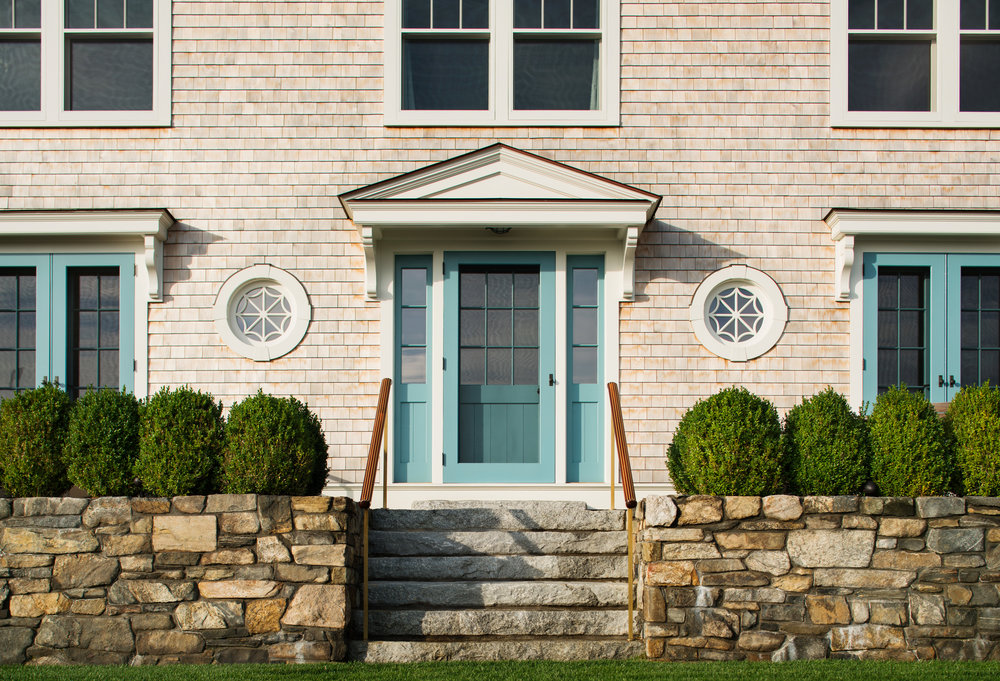 gorgeous front door stone walls