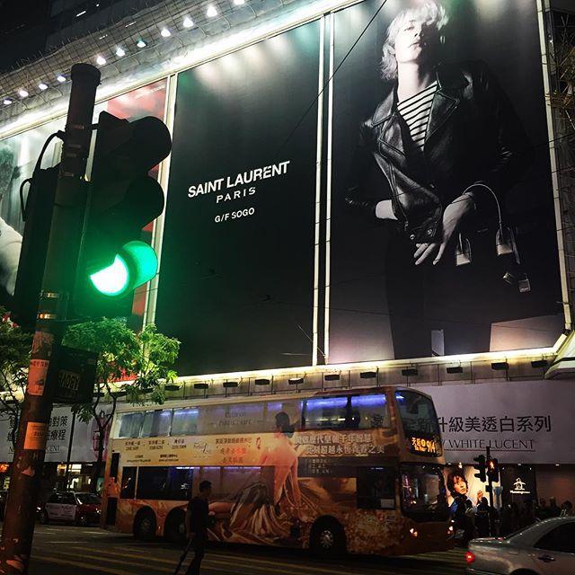 #hongkong #advertising #black #saintlaurent #yvessaintlaurent #brand #sogo #hkig #hk #style #fashion
