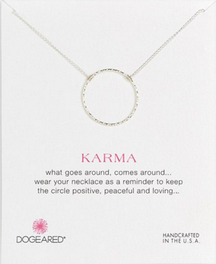 Photo from nordstrom.com (Karma necklace by Dogeared)