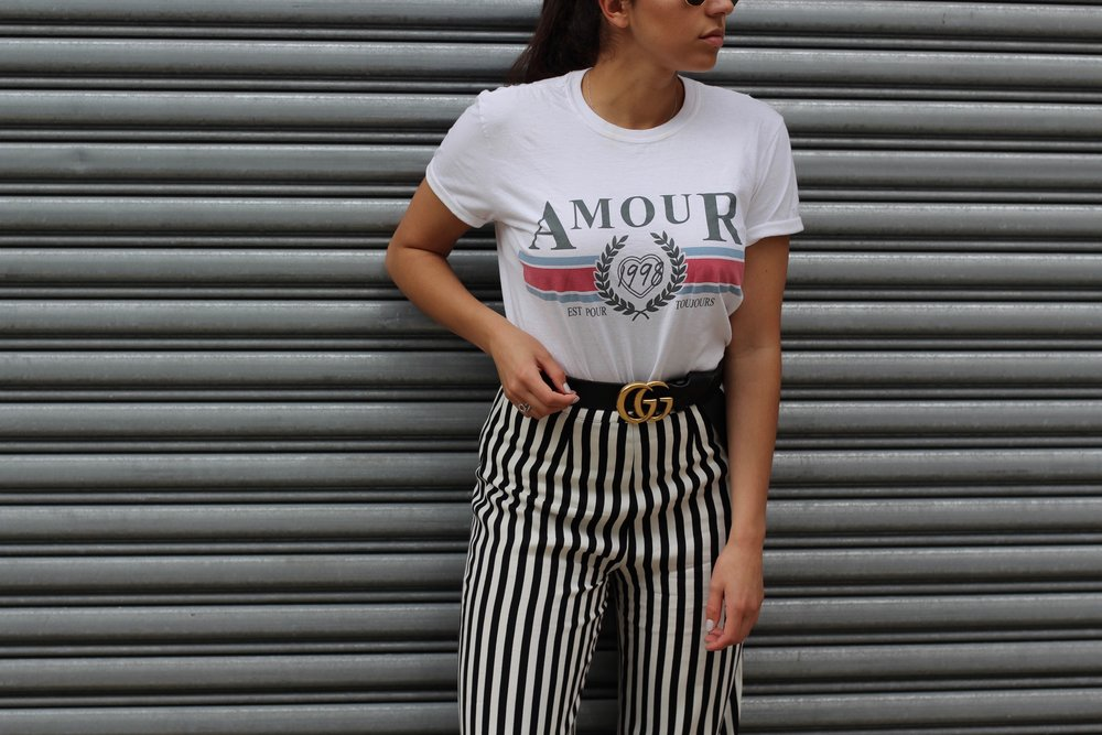 Palazzo Pants + Stripes - Never enough stripes for day 5 of NYFW