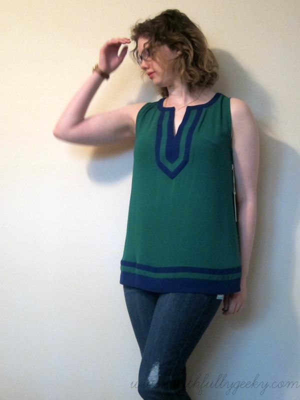 Flynn Colorblock Sleeveless Blouse by 41Hawthorn, size M
