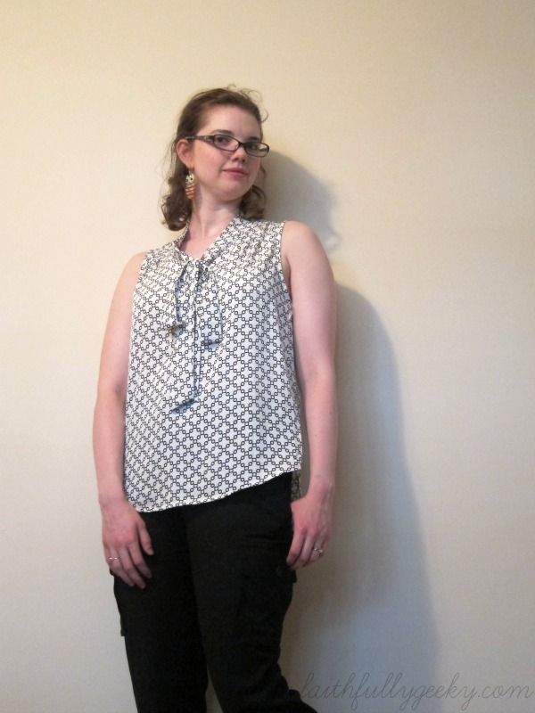Astrid Tie Neck Blouse by 41Hawthorn, size M