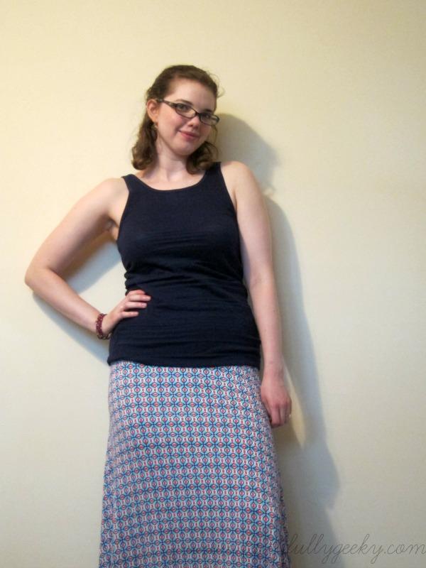 Char Geo Print Maxi Skirt by Market & Spruce, size S