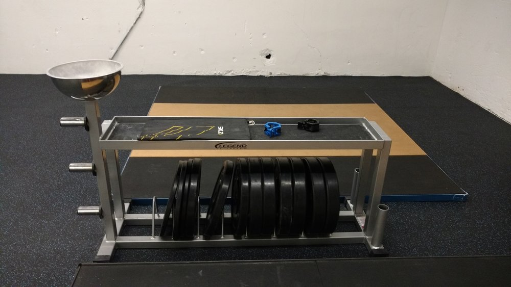 Lifting Platforms w/ Bumper Plates/Racks