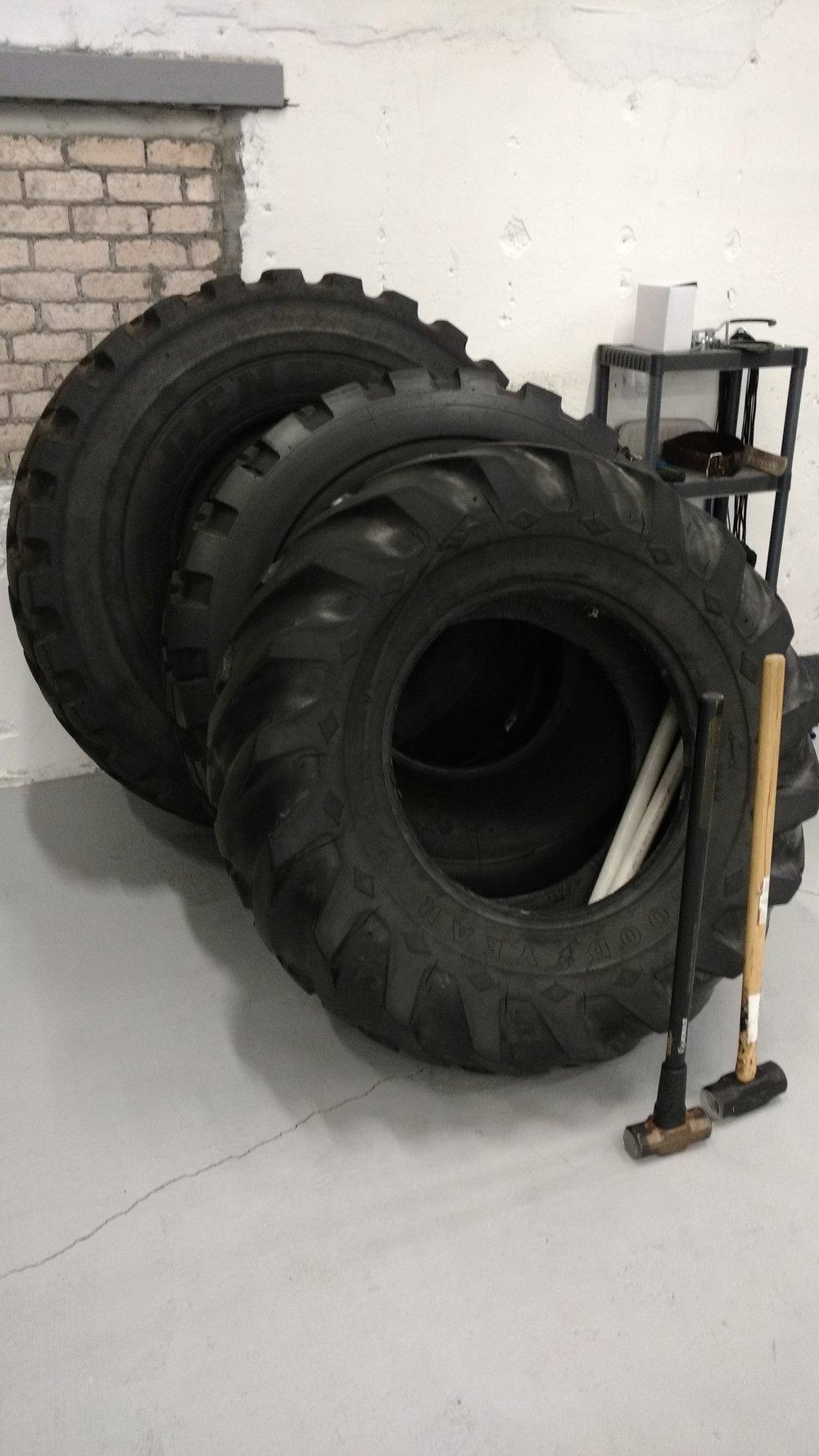 Tractor Tires & Sledgehammers