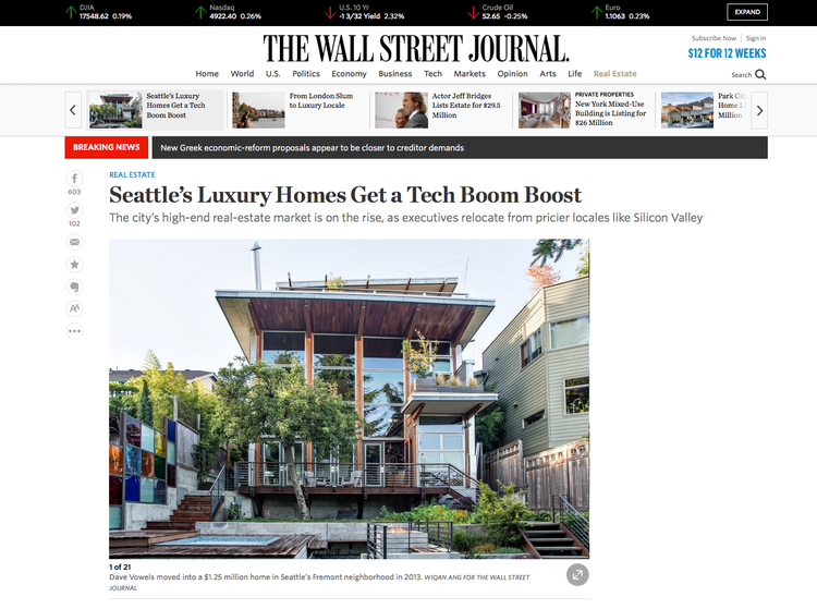 Seattle's Luxury Homes Get a Tech Boost The Wall Street Journal July 9 2015