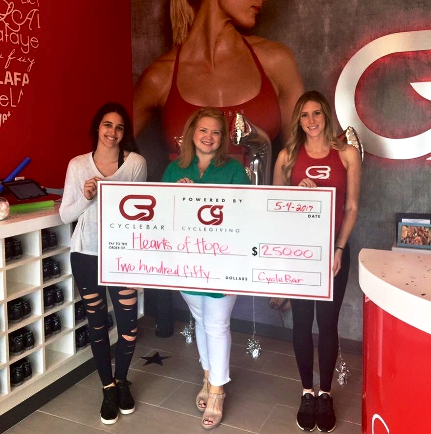 Donation from CycleBar