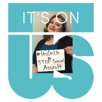 Kimberly Young, the Executive Director takes the #ItsOnUs pledge
