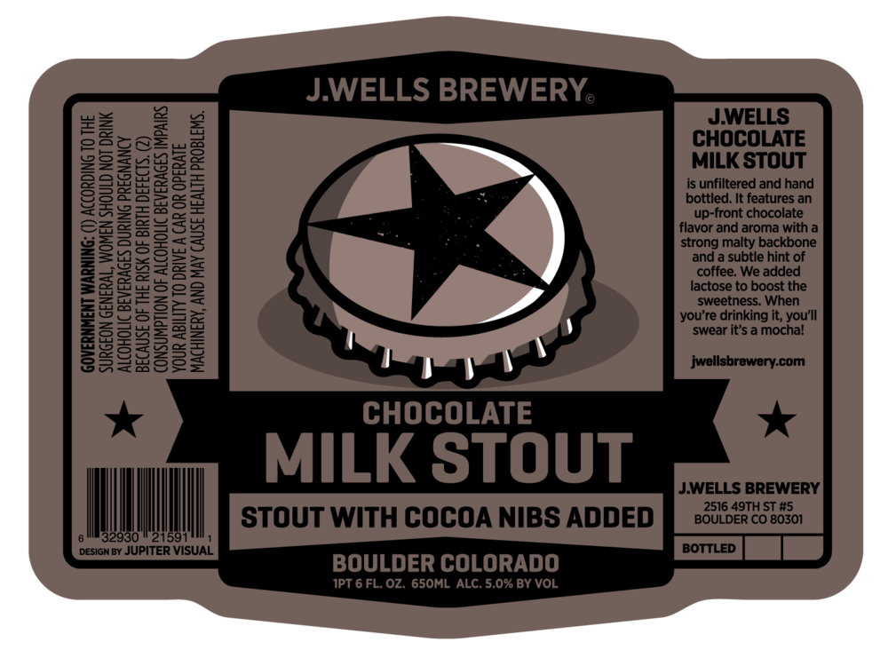 J. Wells Milk Stout Label