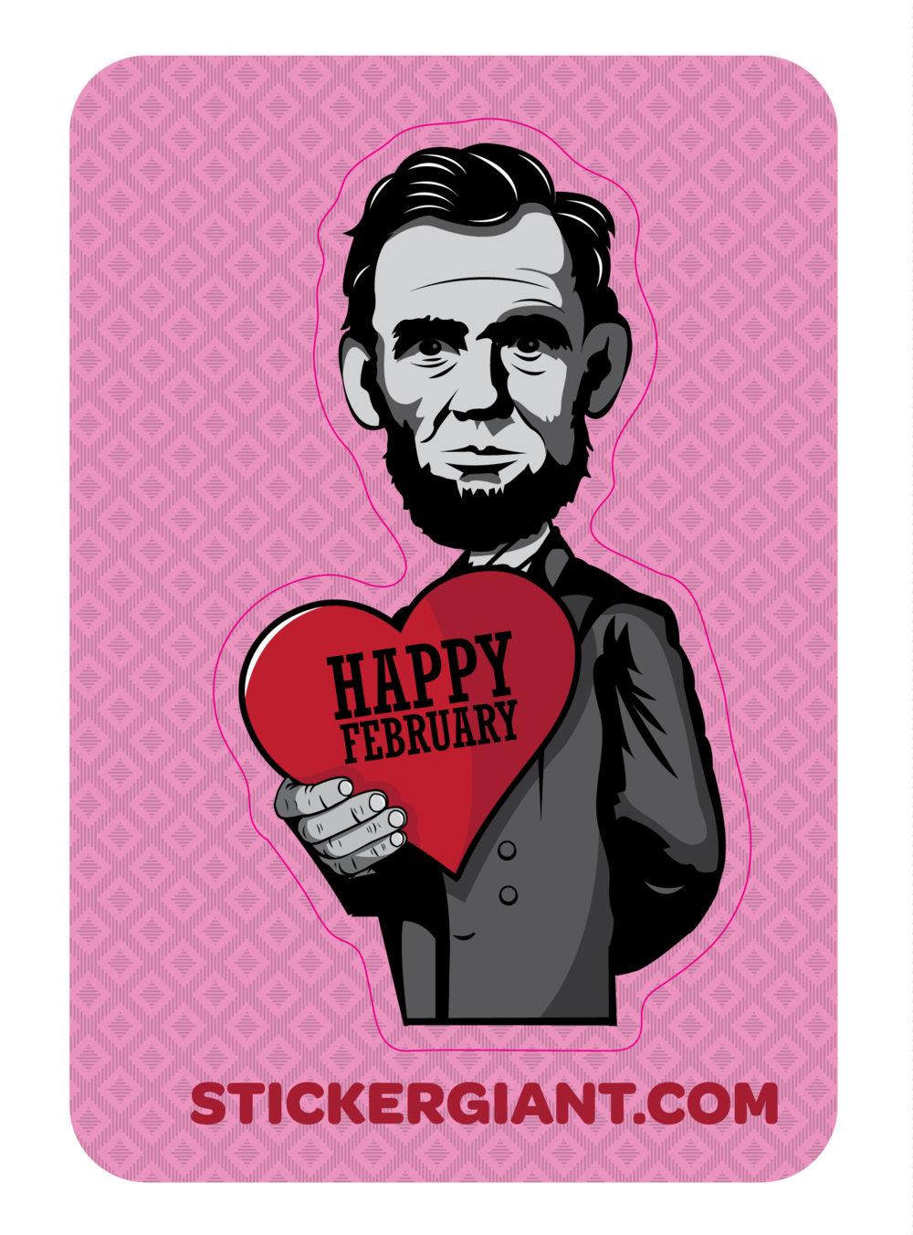 Custom Abe Lincoln sticker design for  StickerGiant