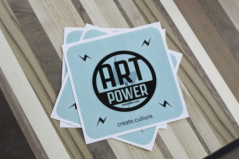 Art is Power sticker design for  madelife