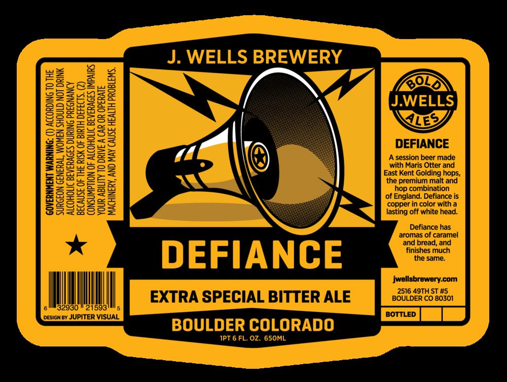 Beer Label Design J Wells Brewery Defiance ESB Jupiter Visual – Beer Label