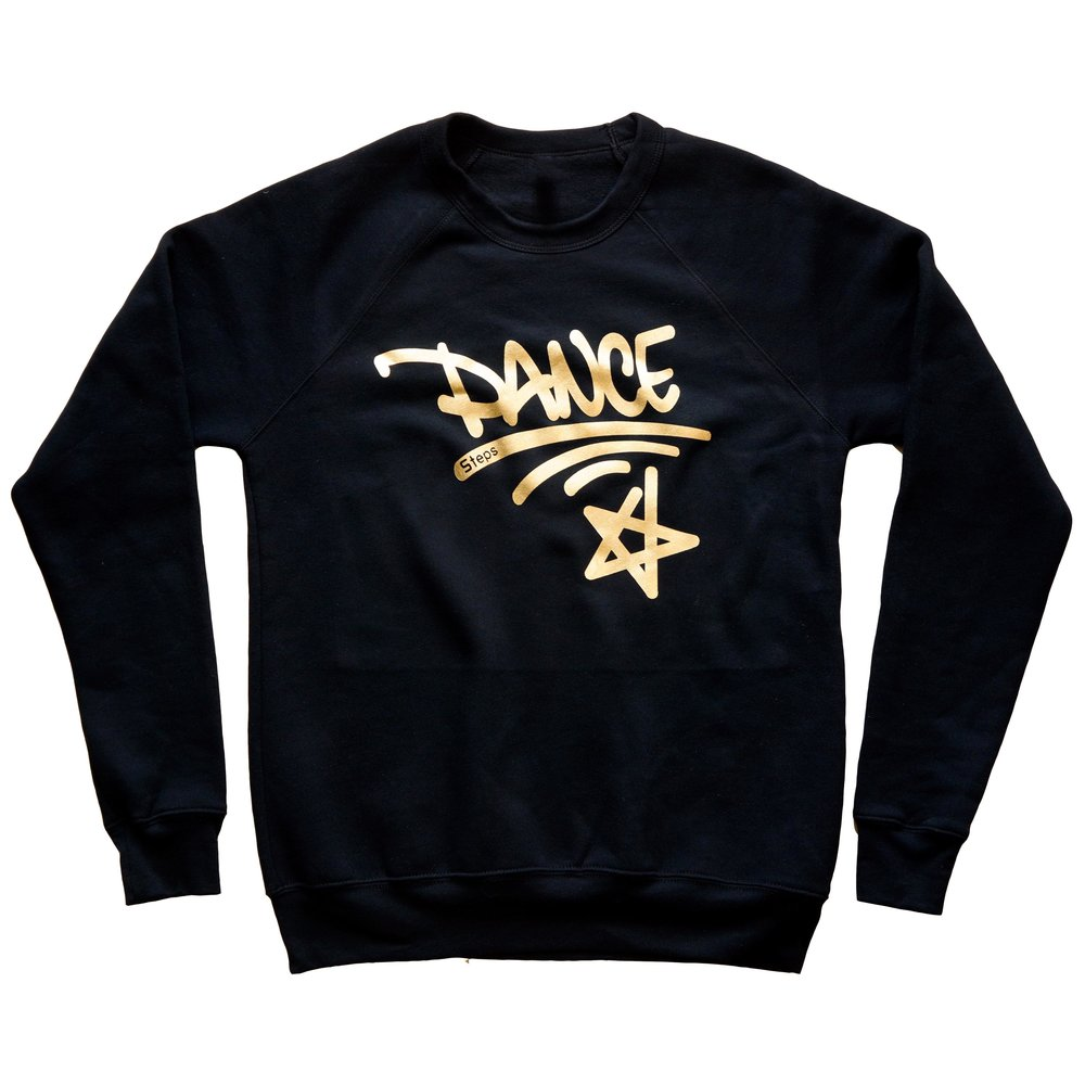 5 Steps Dance Sweatshirt Gold Print.jpg