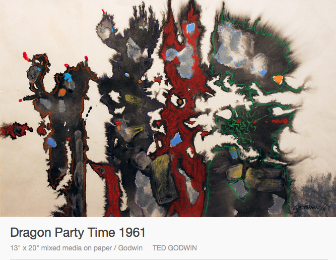 Ted Godwin, Dragon Party Time, 1961, abstraction, Canadian