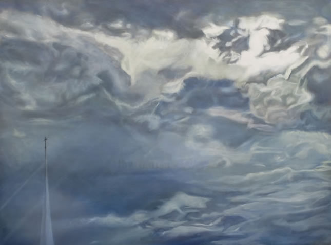 aspiring, clouds, storm, stormy, sky, skyscape, faith, Christian, church, CGOS, Canadian, Glaze, Oil, Society, Tillsonburg, Station, Arts, Centre, Art, Painting, president, spririt, spiritual, life, forces, power, powerful