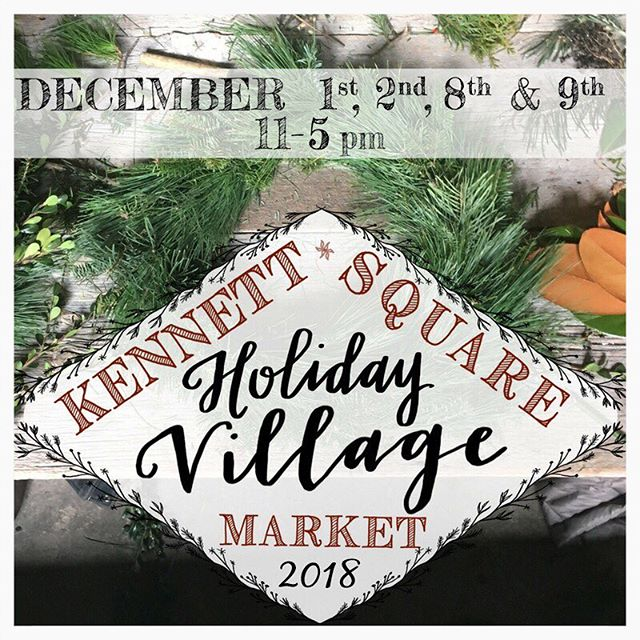 It's that time of year! ⭐️ Holiday markets galore and this one is our favorite 🎄 Lock and Key Confectionery will be at all 4 days of the Kennett Square Holiday Village! Be sure to stop by for shopping, live music, and tons of fun!