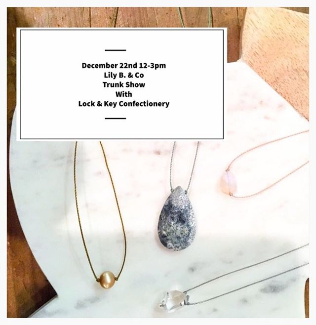 Sharing this post from @shoppemarche ✨ Excited to be reunited with @lilybandco and to help everyone get those last minute gifts checked off your lists! Join us for gems and sweets this Saturday 12/22 from 12-3 at Marché in Kennett Square!
