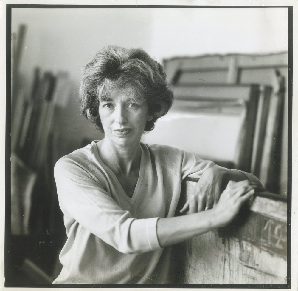 Sarah Grilo in her studio. New York, 1964.  Photo: © Henry Grossman for LIFE® Magazine