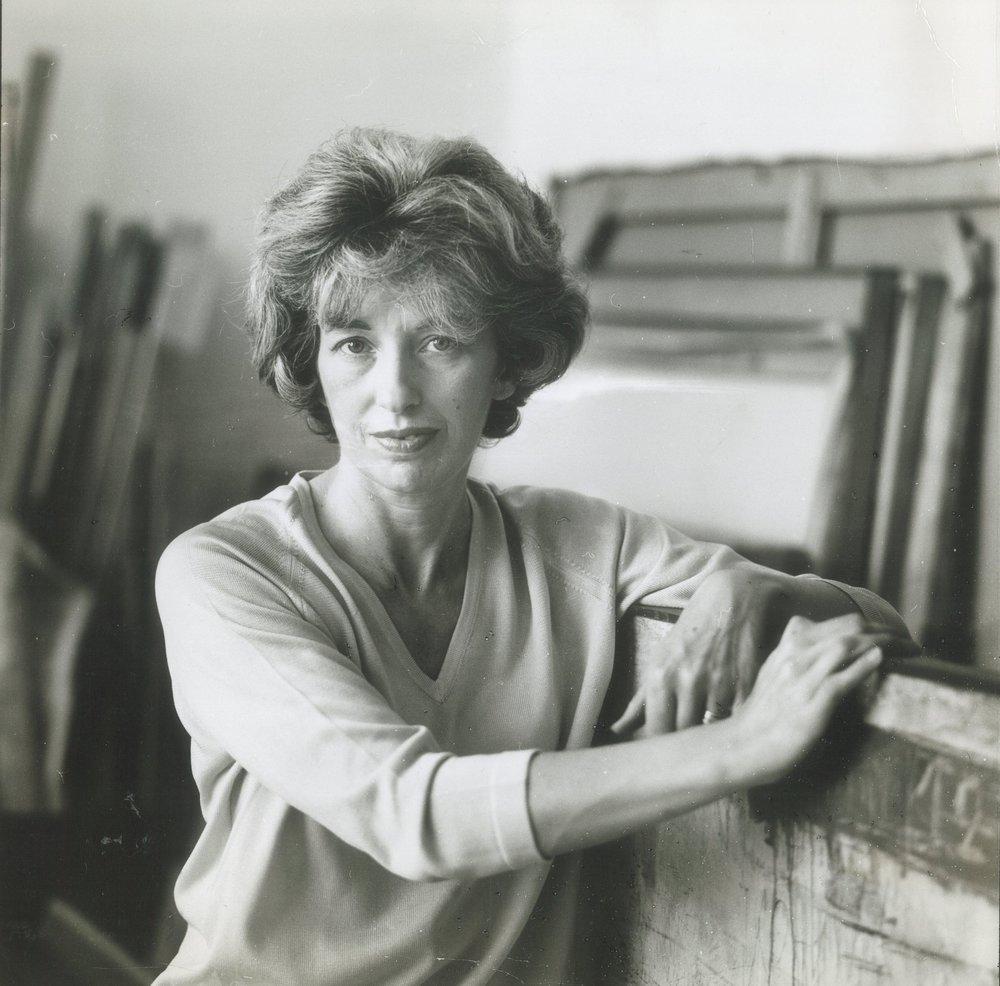 Sarah Grilo in her studio. New York, 1964 Photo: © Henry Grossman for LIFE® Magazine