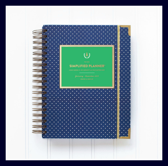 Emily Ley's Simplified Planner Daily Edition - Navy Dot - Source