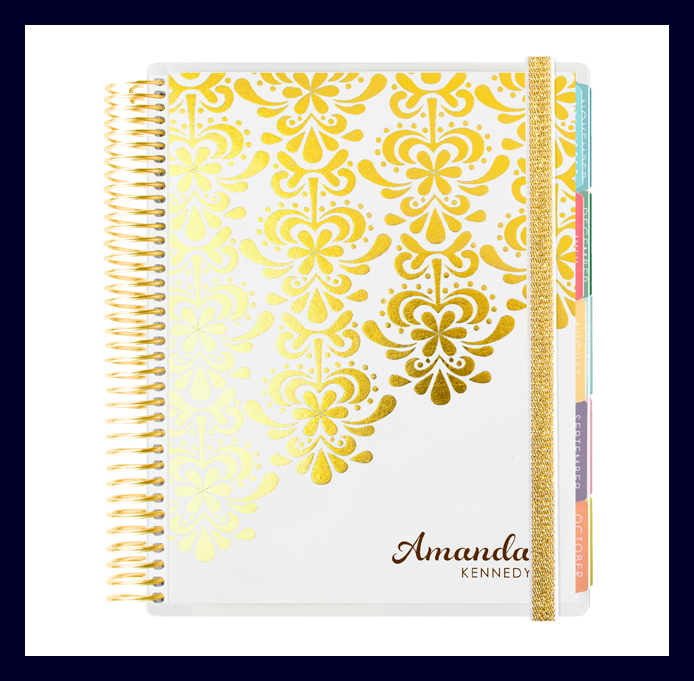 Erin Condren Foil Life Planner - Gold Edition White - Source
