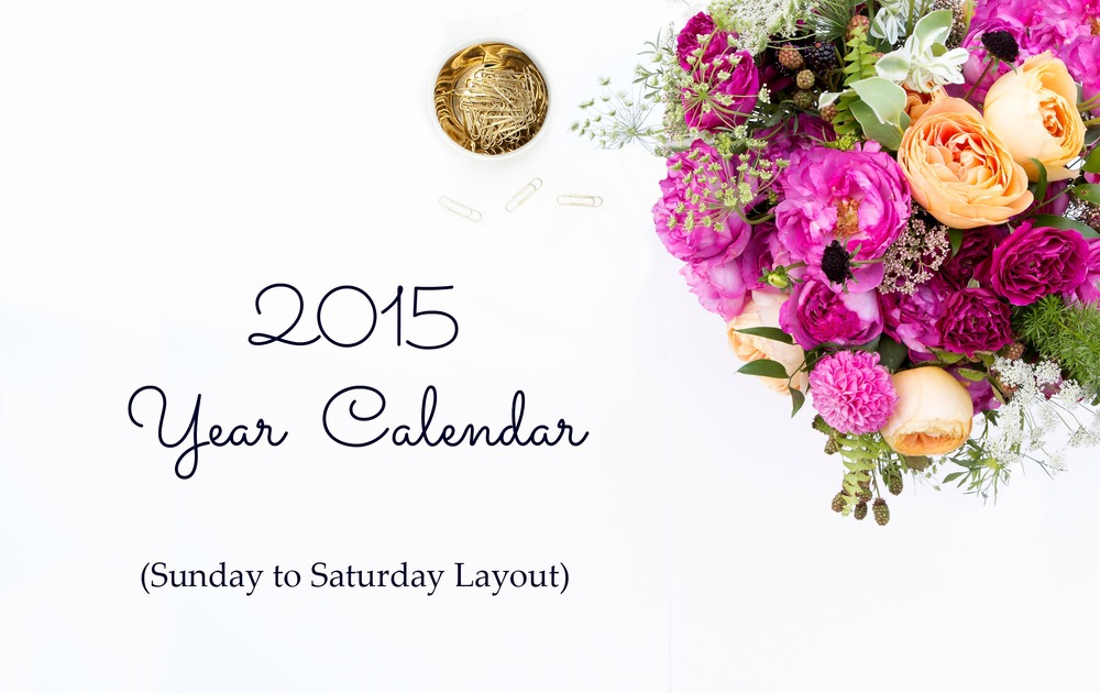 2015-Year-Calendars-Sunday-to-Saturday-Layout